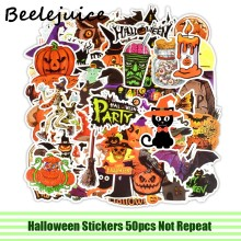 50pcs Happy Halloween Stickers paster stripfiguren anime film decals scrapbooking diy telefoon laptop waterdichte decoraties(China)