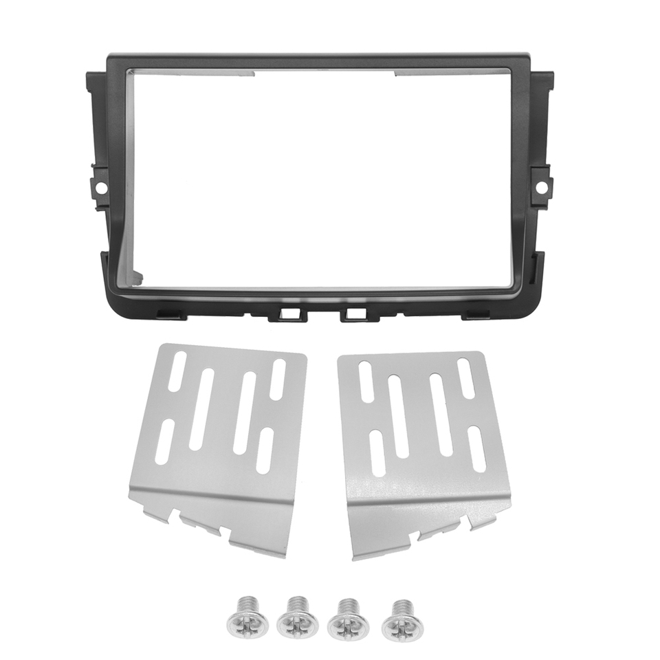 Double 2-din Radio Panel ISO Adapter Antenna for Opel Vivaro from 2011-2015 Set