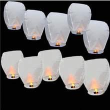 1 PIÈCES Bricolage Papier Chinois Souhaitant Lanterne Lampe Conception pour Extérieur Fête D'anniversaire Décoration De Mariage