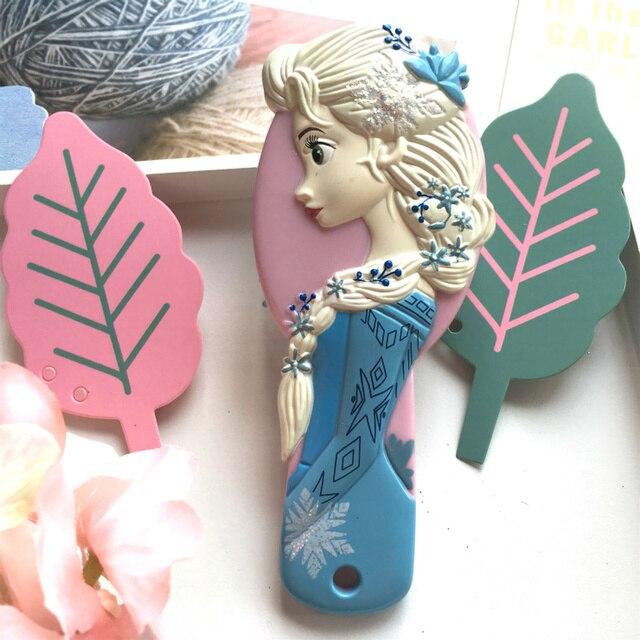 Disney reine des neiges peigne pour filles 3D princesse reine des neiges brosses à cheveux soins des cheveux bébé fille soins sirène Minnie peigne à cheveux Disney jouets