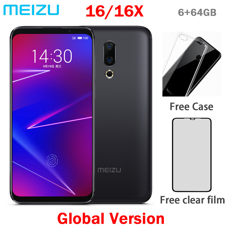 Original Meizu 16 4G LTE 6G 64G Global Version Cell Phone Snapdragon 710 Octa Core 6.0