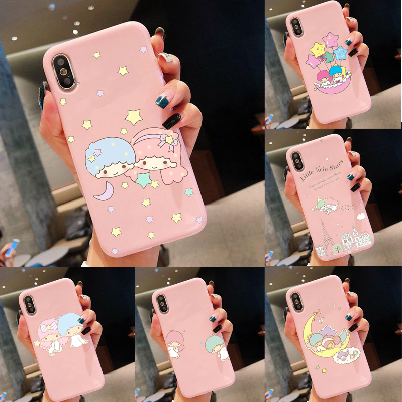 My Melody Little Twin Stars Amazing landscape Phone Case For iphone Xs MAX XR X 6 6s 8 7plus 11Pro MAX back soft TPU phone cases