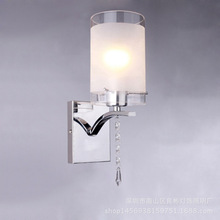 Simple Scrub LED Wall Lamp Living Room Bedroom Aisle LED Wall Lamp Silver Color Iron Hotel Bedside Wall Light retro north european black cage iron wall light aisle bedroom bedside dining room mirror balcony edison wall lamp industry lamp