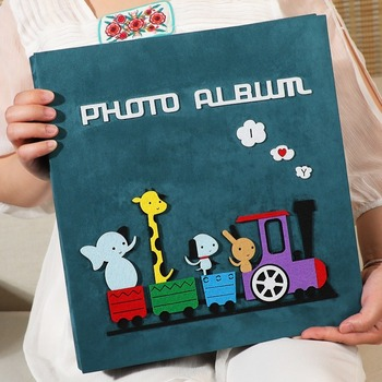 Felt Album Book 6 Inch Insert Type Family 600 Creative Children Baby Growth Album Wy10184