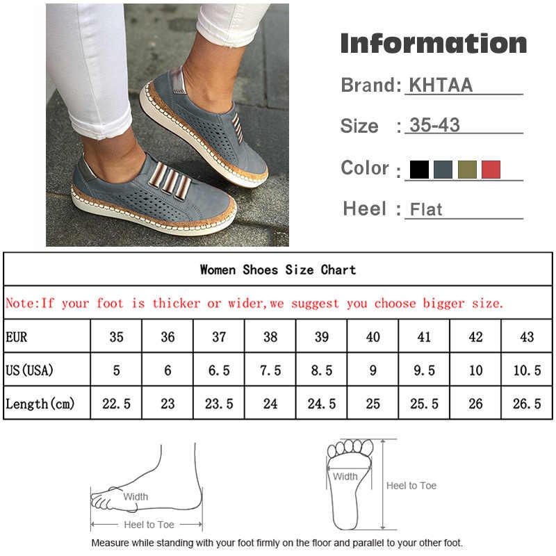 Kadınlar Üzerinde Kayma Düz Hollow Bayanlar Loafer'lar Rahat Platformu Vulcanized Dikiş Kadın Spor Ayakkabı Moda Konfor Ayakkabı Artı Boyutu