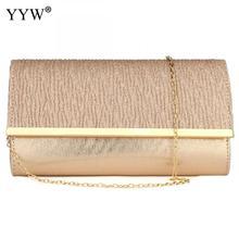 Damska torba wieczorowa na ramię torebka łańcuszkowa torebka z uchwytem na dzień torebka imprezowa luksusowa torebka ślubna różowe złoto Bolsa Feminina