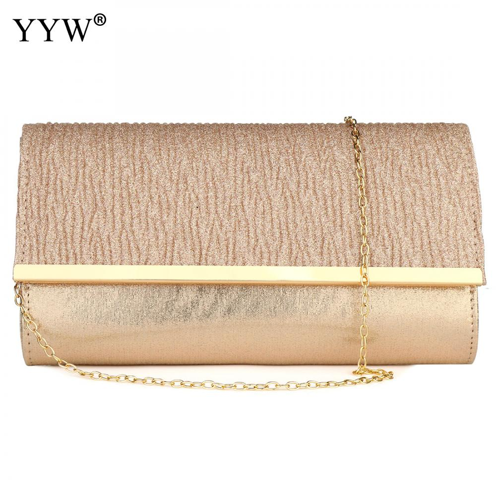 Women Evening Bag Over Shoulder Bags Chain Clutch Purse Day Dinner Party Bag Luxury Wedding Purse Rose Gold Bolsa Feminina