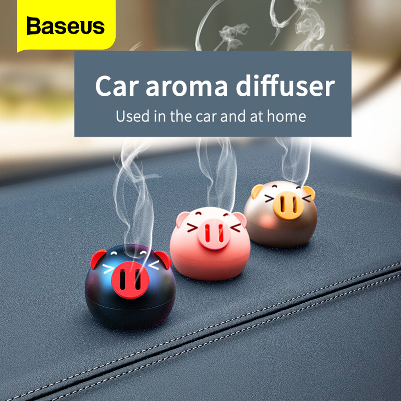 Baseus Mini Metal Car Air Freshener For Dashboard Auto Air Outlet Aromatherapy Car Diffuser Solid Perfume Flavoring For Car Home|Air Freshener| |  - title=