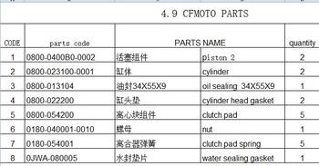 piston/cylinder/sealing/gaskets/clutch pad/nut  suit for CFX8 7020-070101