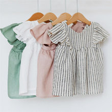 Baby Clothes Girl Dress For 0-3Y Baby Summer & Spring Organic Cotton Newborn Girl Clothes New Born Sleeveless Kids Girl Clothing