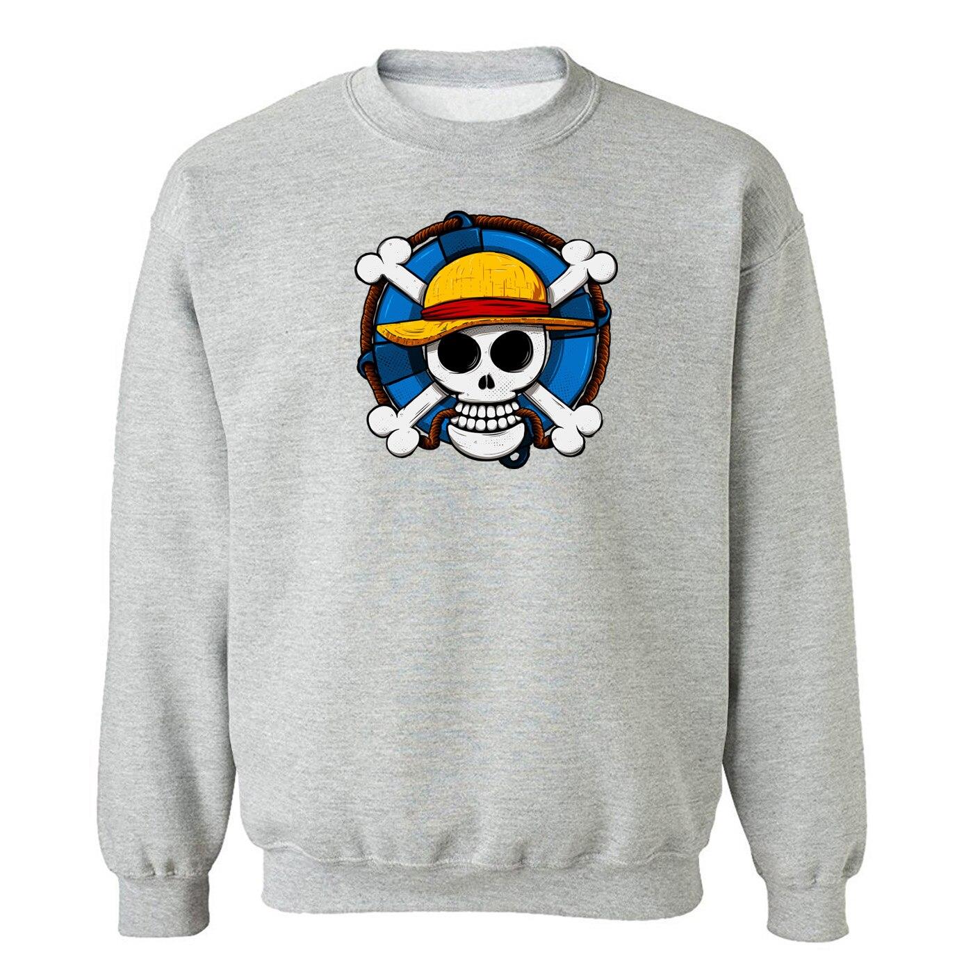One Piece Skull Hoodies Men Sweatshirts Funny Hip Hop Sweatshirt Harajuku Autumn New Tracksuit Hip Hop Mens Japanese Streetwear