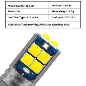 Image 2 - 1Pcs T10 W5W 194 168 Car LED Light 3030 10SMD Canbus Error Free Auto Interior Side Turn Bulb Lamp Amber Yellow Oragne 12 24V DC