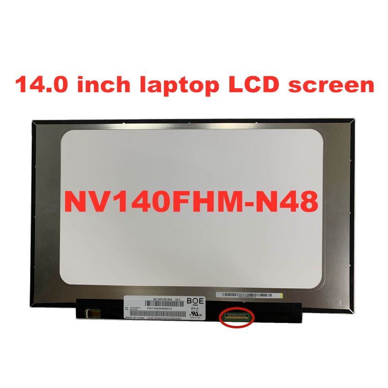 Free Shipping 14.0 Inch IPS Laptop LCD Screen NV140FHM-N48 LP140WF8-SPR1 N140HAC-EAC LP140WF7-SPC1 1920 * 1080 EDP  Panel