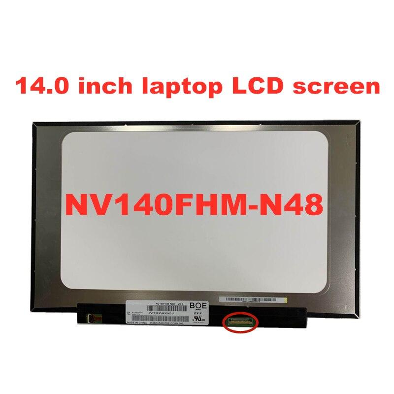 Free Shipping 14.0 Inch IPS Laptop LCD Screen NV140FHM-N48 LP140WF8-SPR1 N140HAC-EAC LP140WF7-SPC1 1920 * 1080 EDP  Panel