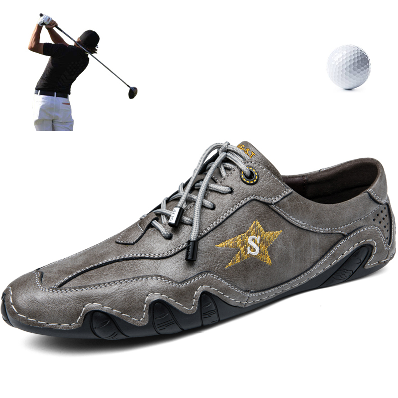 2020 New Classics Golf Shoes Men Luxury Leisure Golfing Shoes Men Sneakers Breathable PU Leather Sport Shoes Boys Flats Footwear