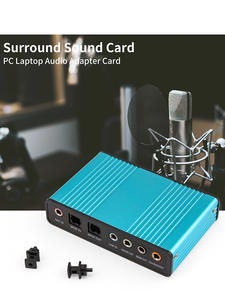 GOOJODOQ Audio-Card-Converter Sound-Card Professional External 6-Channel Laptop CM6206