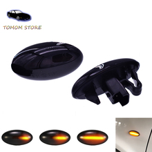 цена на For Peugeot 1007 107 206 207 307 407 607 Partner Expert dynamic led turn signal indicator lights lamps amber water flowing