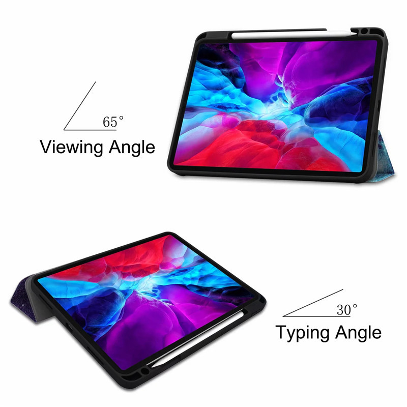 PU Painted Case iPad Cover Case For Leather 12 Stand 9 Back For Smart iPad TPU 2020 Pro
