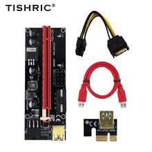 2021 TISHRIC PCI E Card Nâng 009S/009 PCIE PCI E Nối Dài USB 3.0 SATA Sang 6pin Cáp khai Thác Mỏ Nâng Cho Card