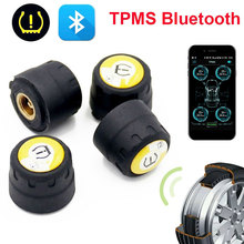 TPMS with 4 Sensors Stable Tpms Bluetooth Car Tire Pressure Detector Universal Mobile Phone APP Detection