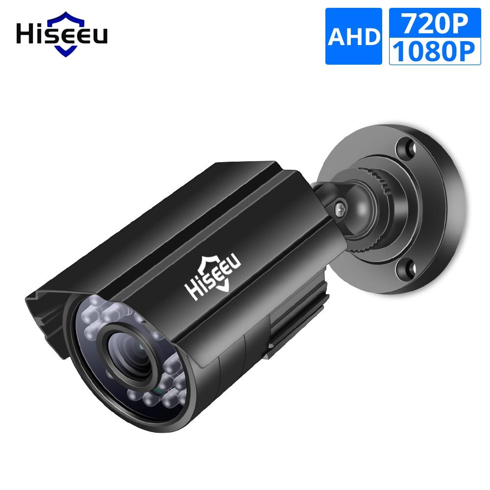 Hiseeu 720P 1080P AHD Camera Metal Case Outdoor Waterproof Bullet CCTV Camera Surveillance Camera For Cctv DVR System Security