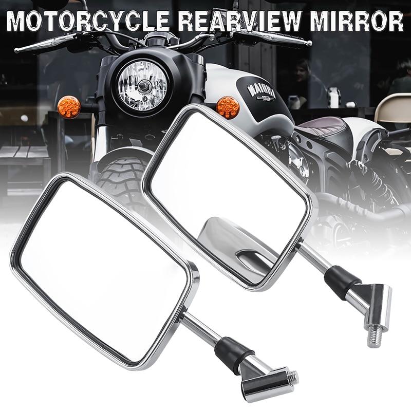 Espejo retrovisor para motocicleta, montaje de manillar de 10mm para Scooter, ciclomotor, ATV, Dirt Bike, espejos retrovisores para Moto, 1 par