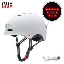 Motorcycle Helmet Lighting Headlight Warning Taillight Flash USB Charging Electr