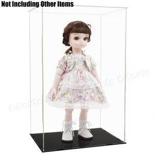 Image 5 - Odoria Caja de exhibición de acrílica transparente 52cm H autoensamblaje caja Perspex a prueba de polvo