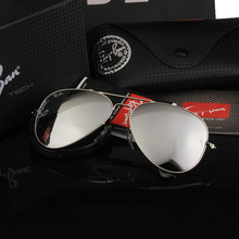 Aviation Pilot Driving Sunglasses color Glass lens Men Woman Luxury Brand Design 3025 3206 Original Box Logo Top Quality UV400