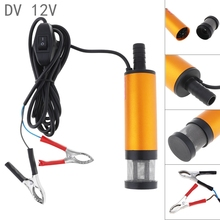 купить 12V DC Car Electric Submersible Pump Aluminium Alloy Water Pump Fuel Transfer Pump for Pumping Diesel Oil Water дешево