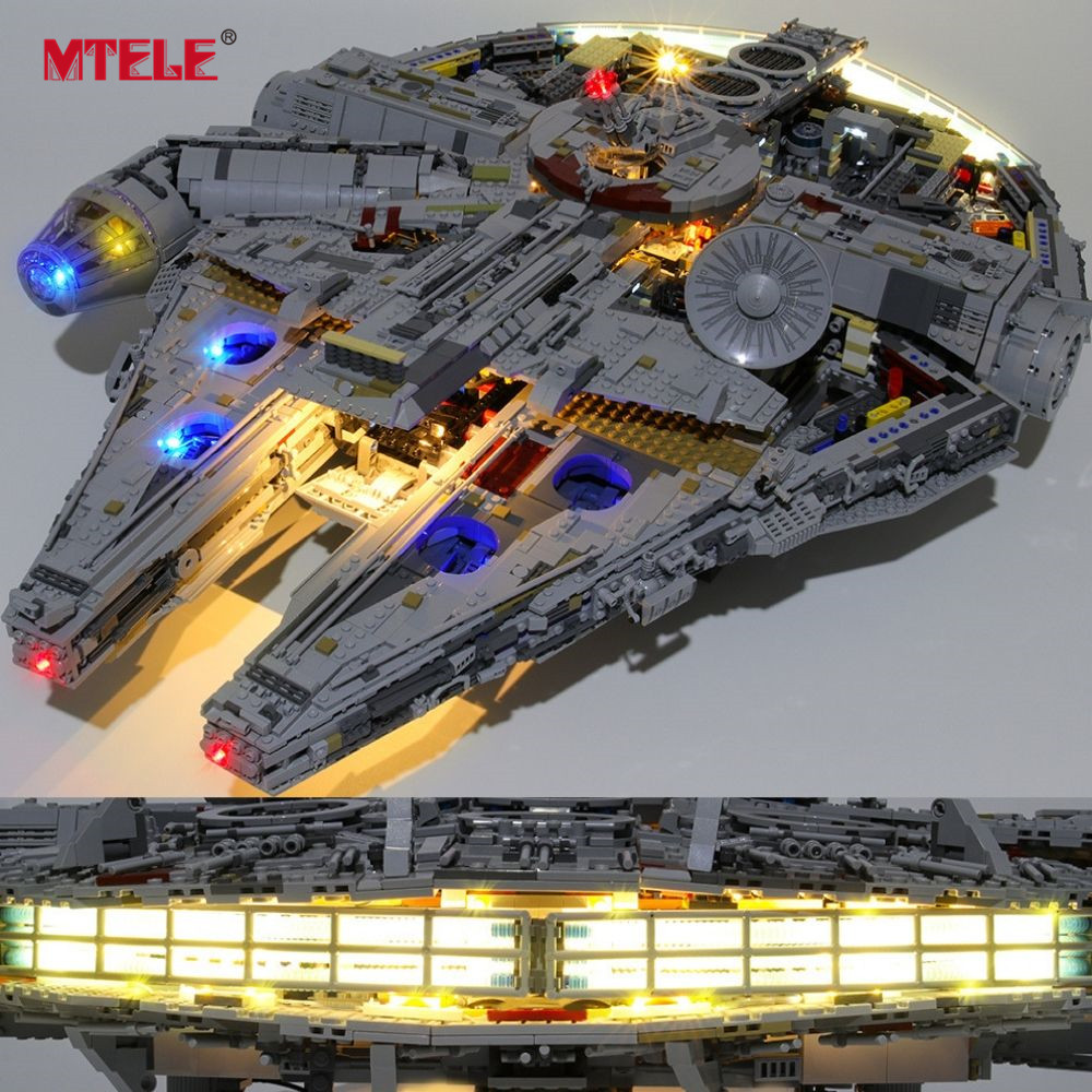 MTELE Brand LED Light Up Kit For Ultimate Millennium Blocks Falcon Compatile With 75192 (Model NOT Included)