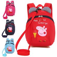 Peppa Pig Toys Boys and Girls Cute Kindergarten Backpack Canvas Shoulder Bag Cartoon Page Children Crossbody Gift