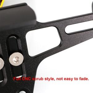Image 5 - ユニバーサル cnc オートバイ可変角度アルミライセンスナンバープレートフレームホルダーブラケット