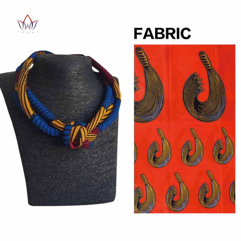 Châu Phi Dây Vòng Cổ In Ankara Dây Vòng Cổ In Châu Phi Dân Tộc Handmade trang sức bông Châu Phi vải trang sức Nữ WYB378