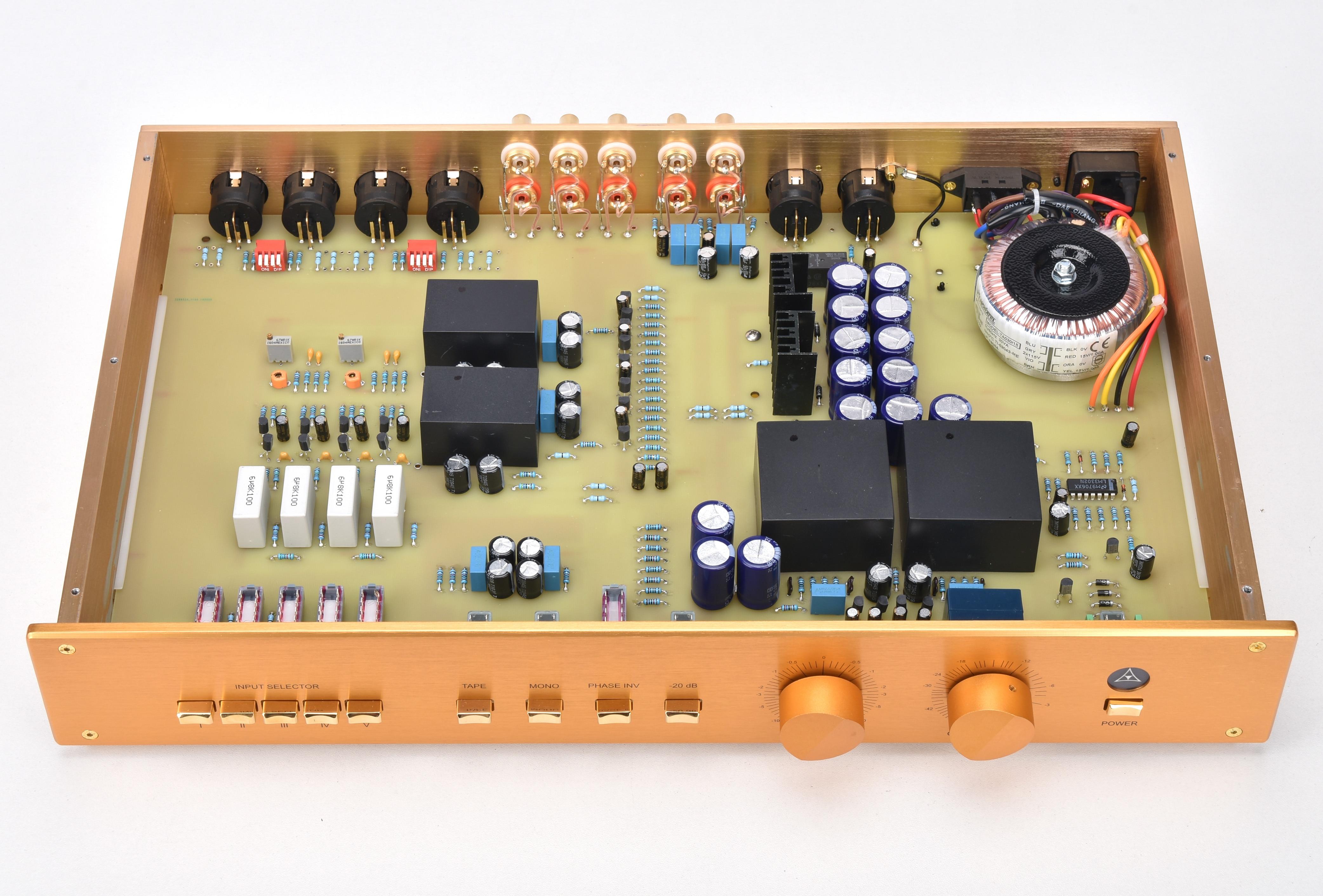 Nouvelle Version améliorée Clone FM255 préamplificateur haut de gamme préamplificateur Audio HIFI