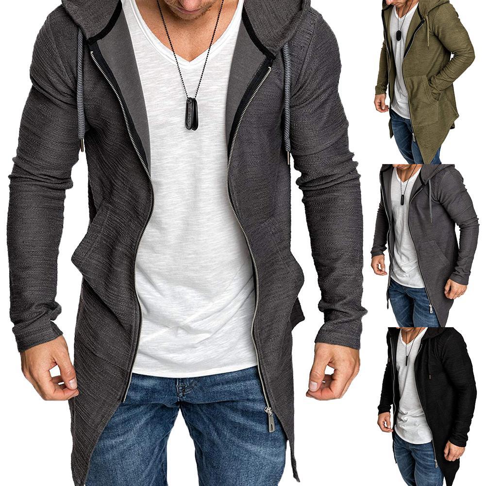 Hoodies Men Fashion Long Sleeve Pullover Hoodies Men Zipper Sweatshirt Male Tracksuit Hip Hop Autumn Winter Hoodies Coat Clothin