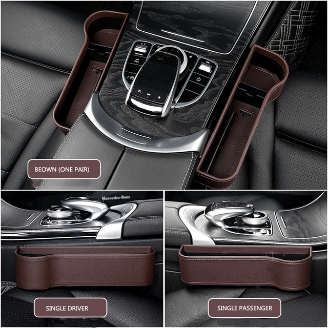 Car Seat Organizer Crevice Storage Box Car Organizer Gap Slit Filler Holder For Wallet Phone Slit Pocket Auto Car Accessories 6
