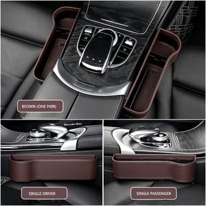 Image 5 - Organizador de asiento de coche, estuche de almacenamiento para automóvil, soporte de relleno de hendidura para billetera, ranura para teléfono, bolsillo, accesorios