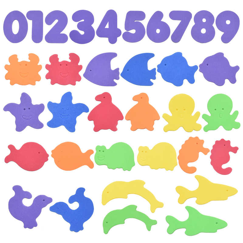 Rompecabezas de letras alfanuméricas, juguetes de baño suaves de EVA para niños, juguetes educativos para el baño del bebé, juguete educativo para la succión de peces para el baño