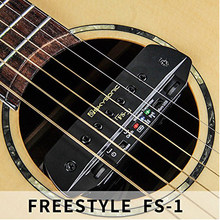SKYSONIC FS-1 UHF Guitar Wireless Pickup with Transmitter Receiver Max.30M Range+ Mic Dual Pickup System Soundhole Pickup