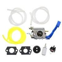 Carburador para husqvarna 125b 125bvx 125bx folha ventilador trimmer substitui zama C1Q W37 carb com linha de combustível kit|Sopradores| |  -