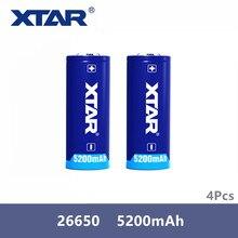 4 Ban Đầu Xtar Pin Sạc 26650 5200 MAh Nút Top 3.6V Bảo Vệ Pin Cho Đèn Pin Di Động Nguồn Điện V. V...