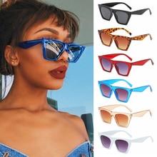 Square Sunglasses Eyewear Shades Vintage Okulary Fashion Goggles Pprotection Women UV400