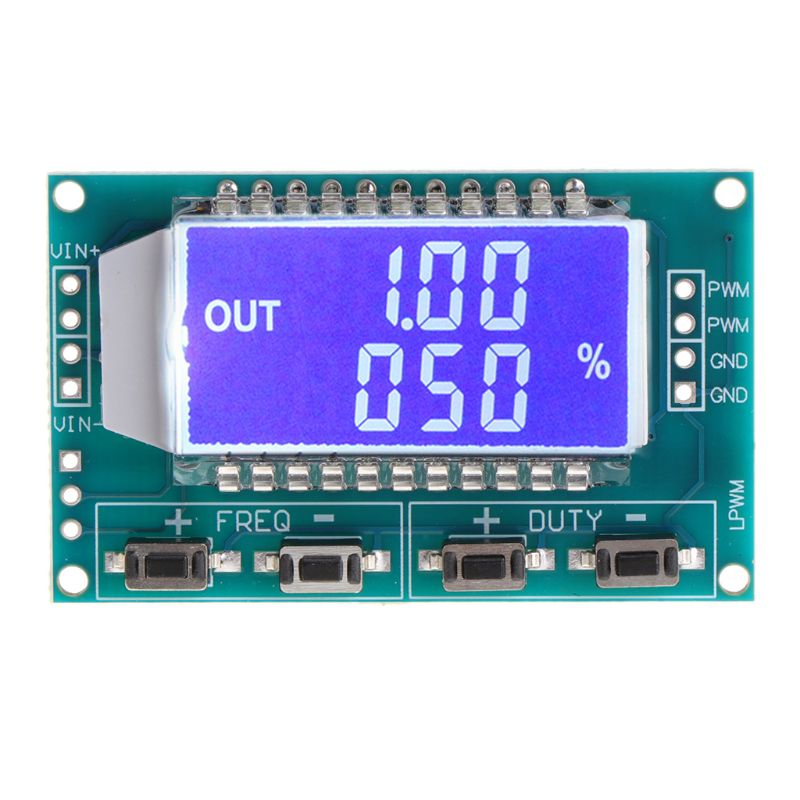 PWM Pulse Frequency Duty Cycle Adjustable Module Signal Generator LCD Display Whosale & Dropship