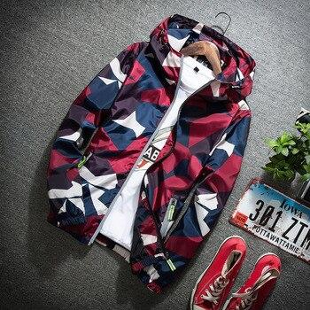 zogaa jacket 2020 New Autumn Men Bomber Jackets Casual Thin Hooded 3m Reflective Summer Camouflage Jacket Men Plus size M-5XL