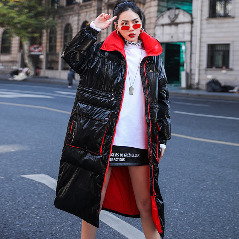 Winter Coat Women 2019 New Winter Jacket Women White Duck Down Jacket Long Down Parka Female Loose Warm Thick Coat Snow Outwear