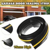 1.5-2.7M Garage Door Bottom Seal Weather Stripping PVC Rubber Seal Strip Electric Door Bottom Seal Water Noise Seal Bumper Strip