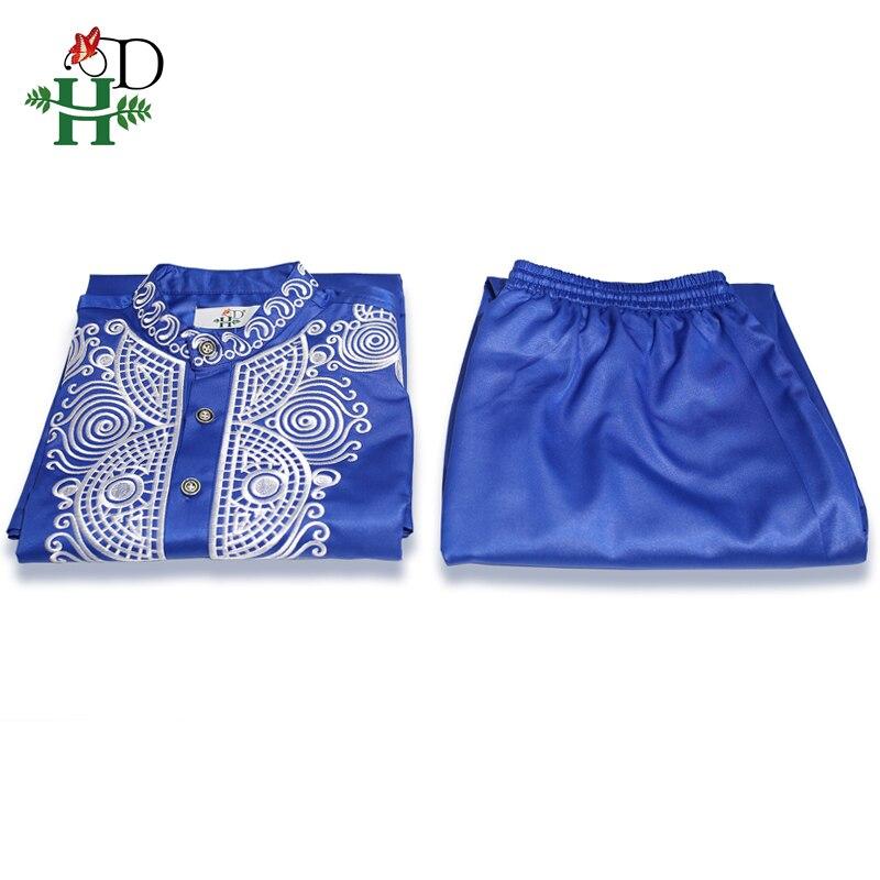 H&D Dashiki Mens Top Pant 2 Pieces  4