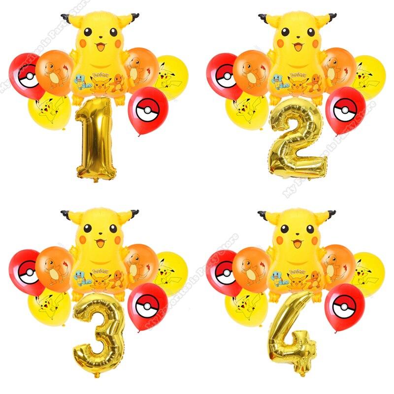Пикачу шар комбинации детский день рождения вечерние покемона для маленьких мальчиков детские спортивные игры вечерние Декор шар жемчужны...
