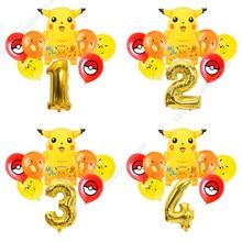 Pikachu combinação balão crianças festa de aniversário pokemon menino crianças jogo decoração da festa balão pérola látex decoração presente adulto